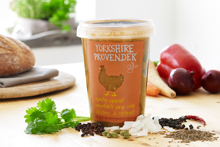 Yorkshire Provender lightly spiced chicken and coconut soup