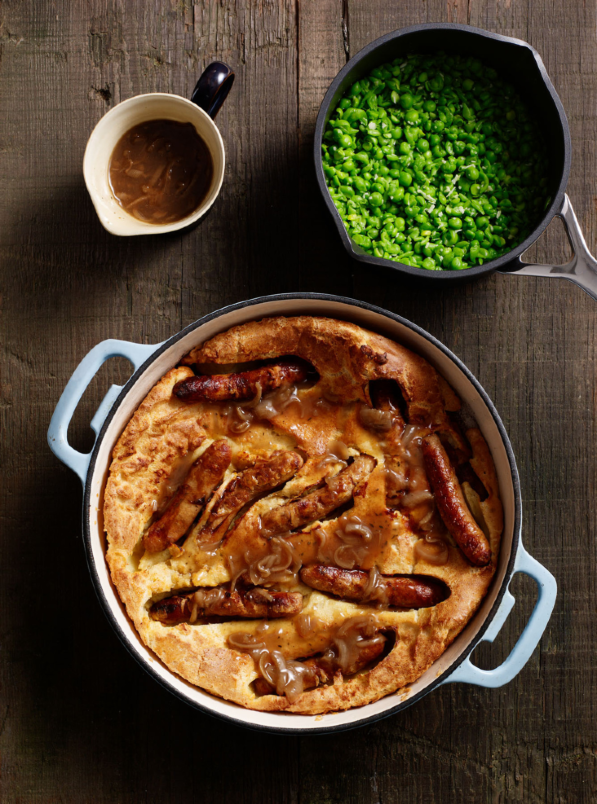Toad in the hole with onion gravy