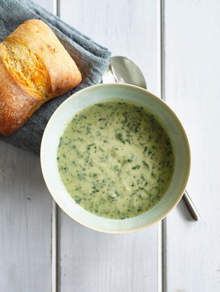 Bowl of wild garlic soup