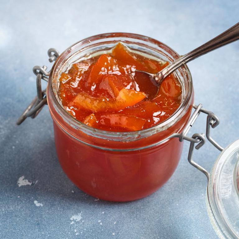 The finished item. Chunky Seville orange marmalade.