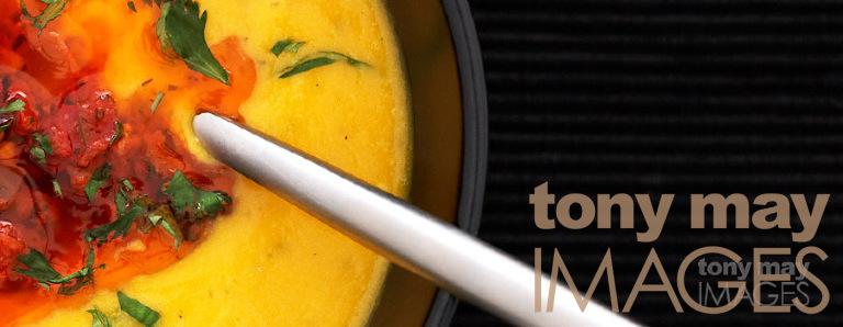 Squash soup by food photographer Tony May. British Professional Photographic Awards 2007.