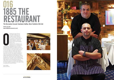 1885 Restaurant, Halifax, Yorkshire, editorial food photography