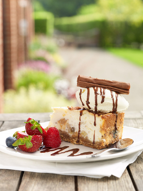 Toffee Cheesecake by Yorkshire Party Company at Newby Hall, North Yorkshire
