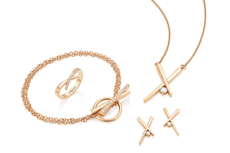 Rose gold and diamond jewellery collection